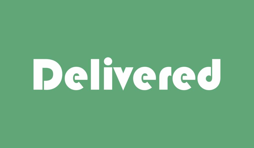 delivered adalah