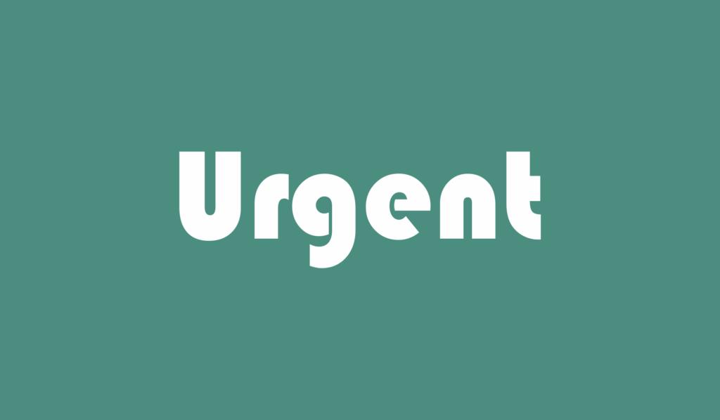 urgent adalah